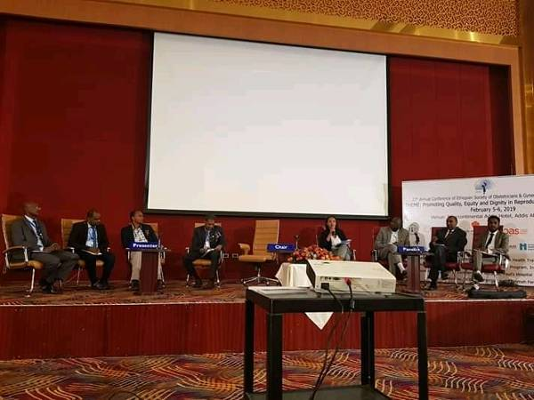 Melese Takele as a panelist at the 27th Annual ESOG Conference